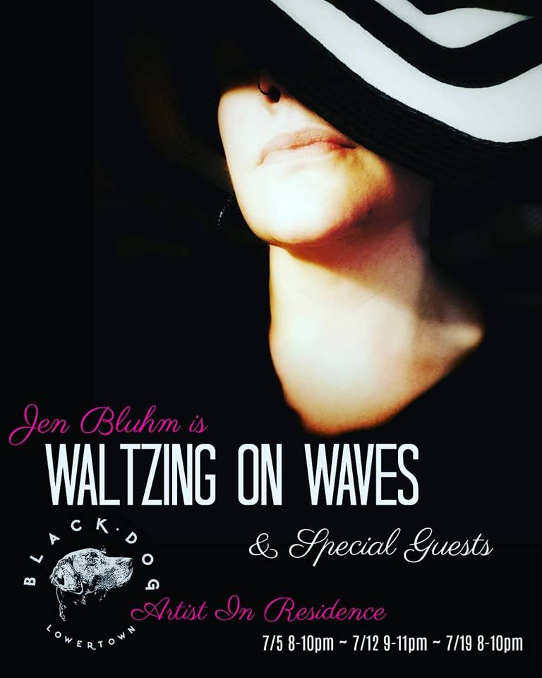 Waltzing on Waves is Jen Bluhm's One Woman Show. She writes a lot of quirky little songs, many of which are waltzes 'cuz ♥.