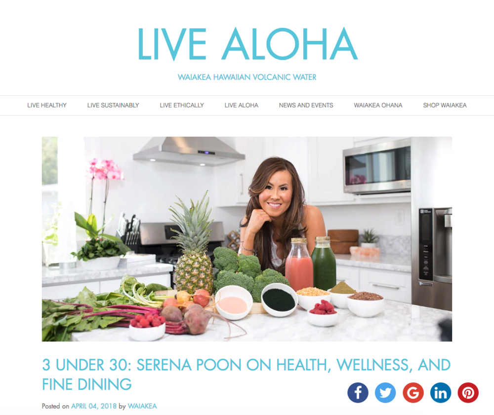 Live Aloha - 3 Under 30 with Serena Poon