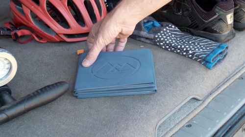 Mat stores easily in your car