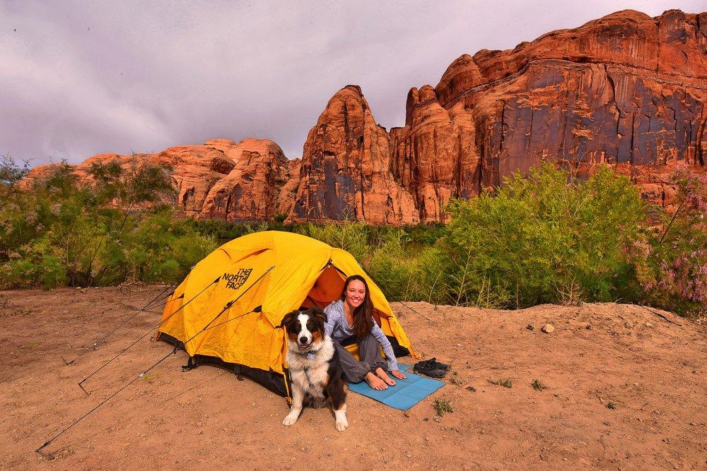 Tent camping mat