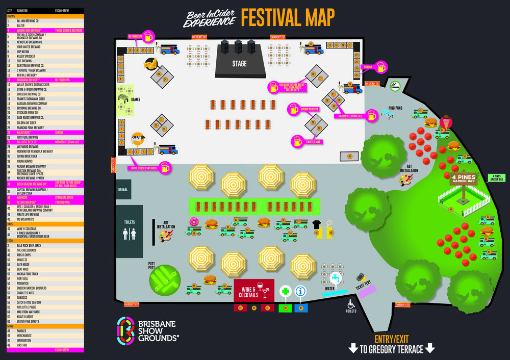 BIC2017 Festival Map
