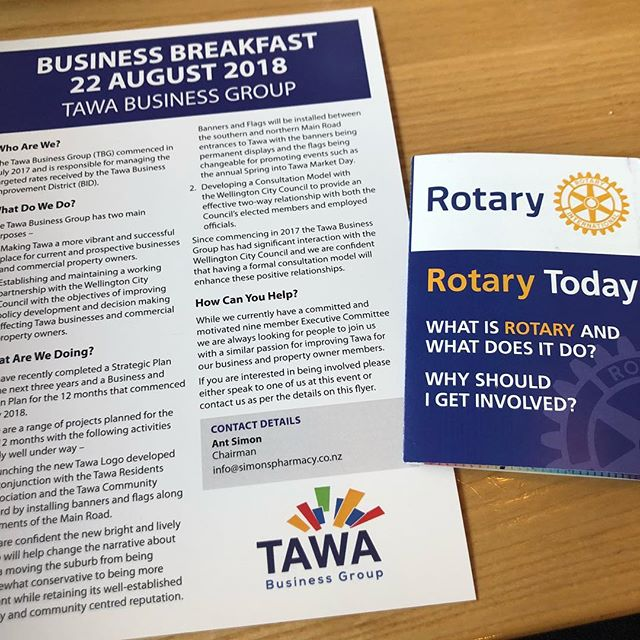 At a Rotary event this morning with Business Tawa with my friend Tracey x learning about TRUST - training, resources, u (myself), systems, teams. Thank you Rescue Dave from Neonatal Trust - he used to be a helicopter pilot with Westpac Rescue helicopters. Inspiring! #inspiration #rescuehelicopter #rescue @the_neonatal_trust @rescuehelicopter @rotaryinternational #tawa #rotary #speeches #businesspeople #womeninbusiness