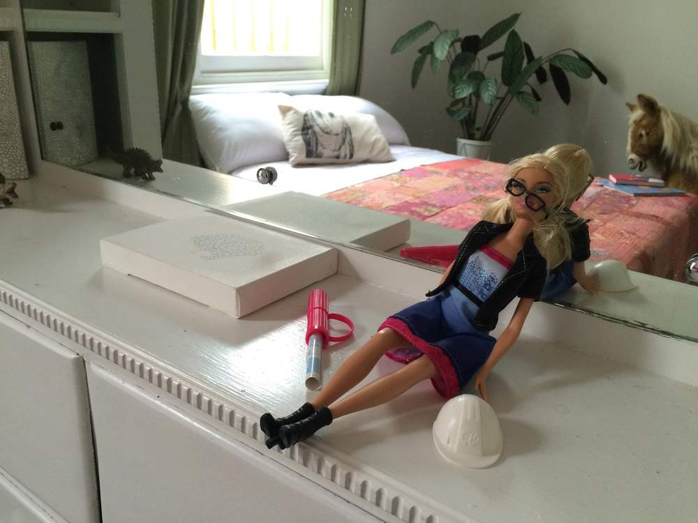 Architect Barbie after home open
