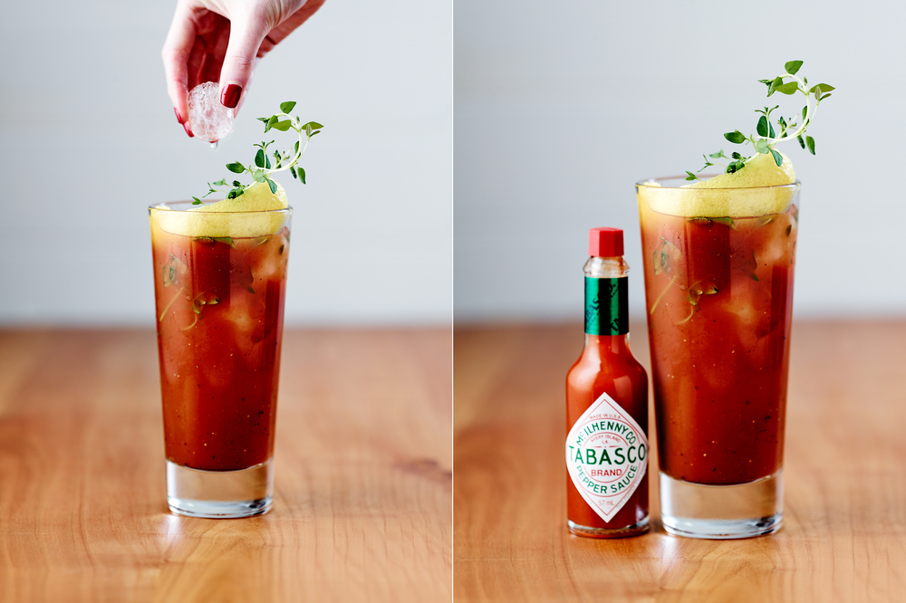 Charlie recently shot these delicious publicity images for perfect partners Tabasco and Absolut Vodka.