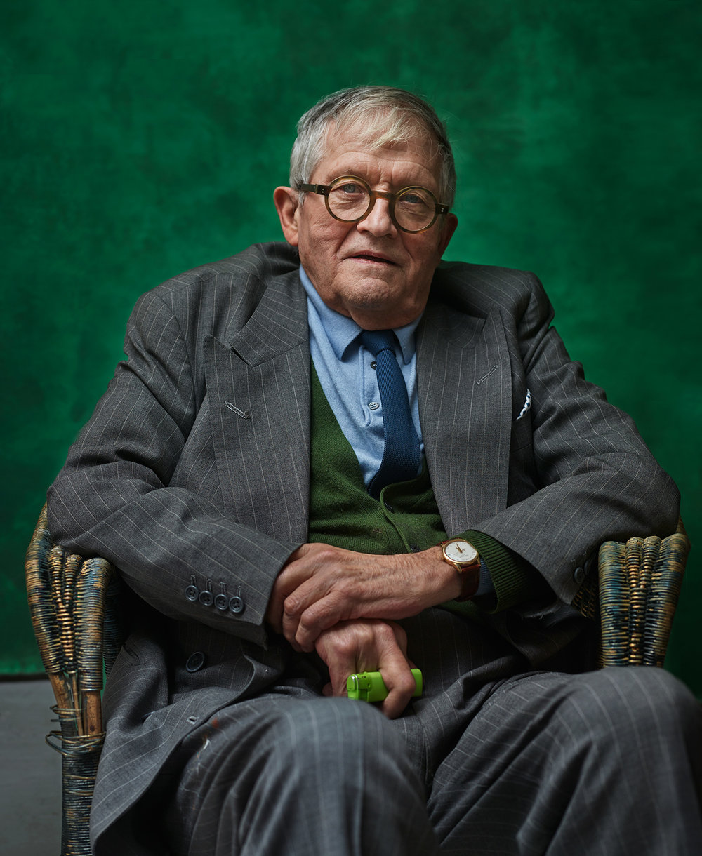 David Hockney wonderful English painter photographed by Chris Floyd represented by Flock