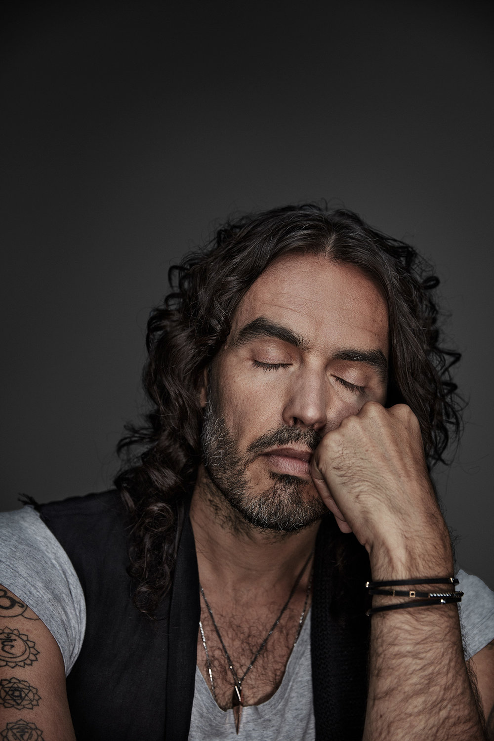 Russell Brand photographed by portrait photographer Chris Floyd represented by photographic agency Flock.jpeg