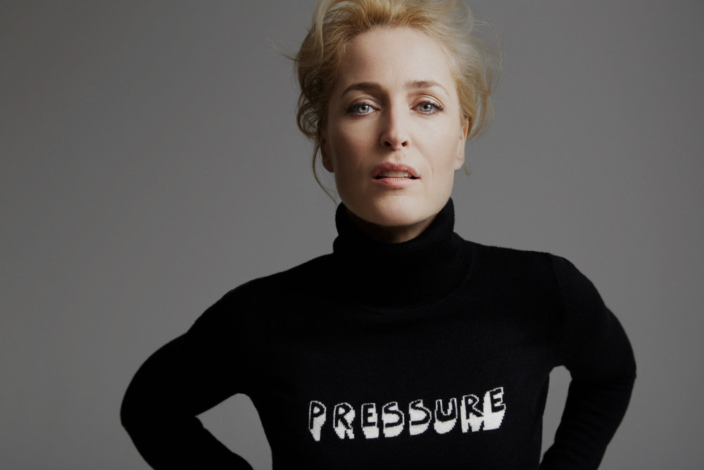 Gillian Anderson author of We: A Manifesto for Women Everywhere photographed by Chris Floyd represented by photographic agent Flock