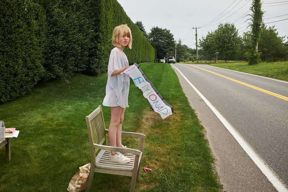 Homemade lemonade stand in Bridgehampton USA photographed by Chris Floyd represented by Flock