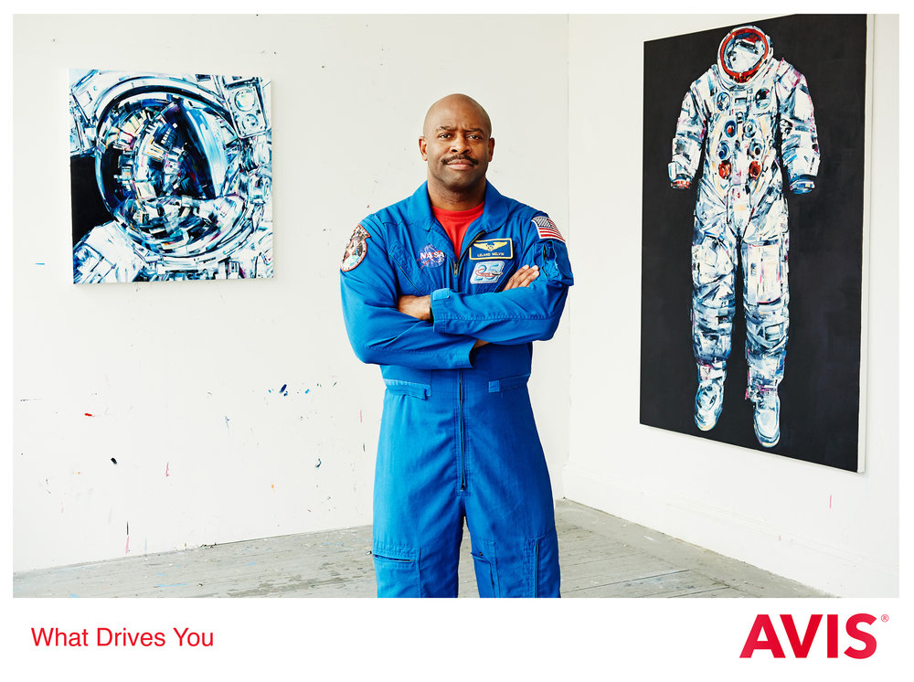 Astronaut Leland Melvin for Avis photographed by Chris Floyd represented by Flock