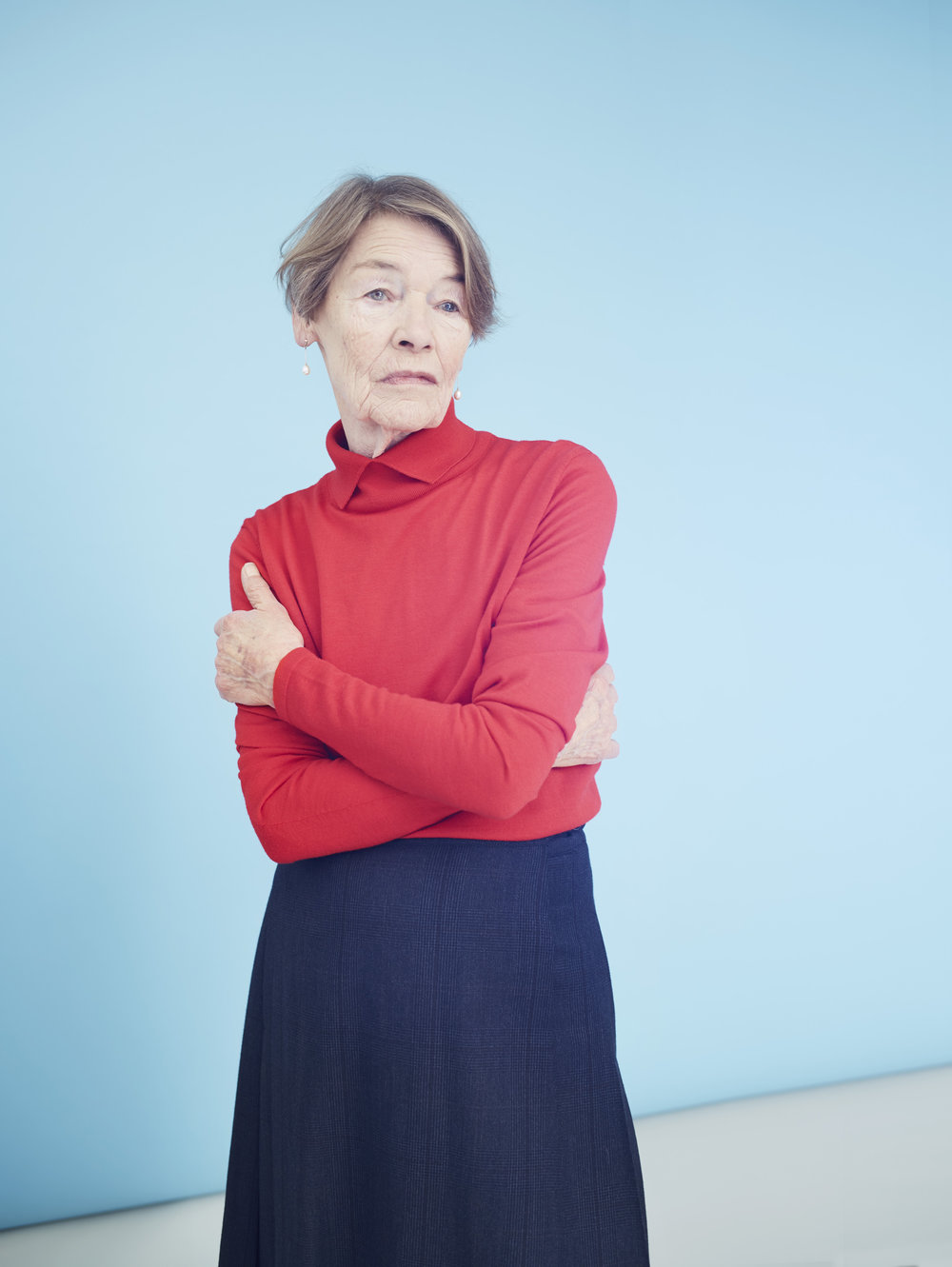 Glenda Jackson photographed by Chris Floyd represented by Flock