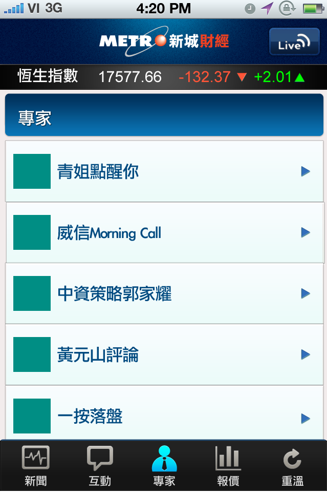 MetroFinance(新城財經) (iPhone/iPad)