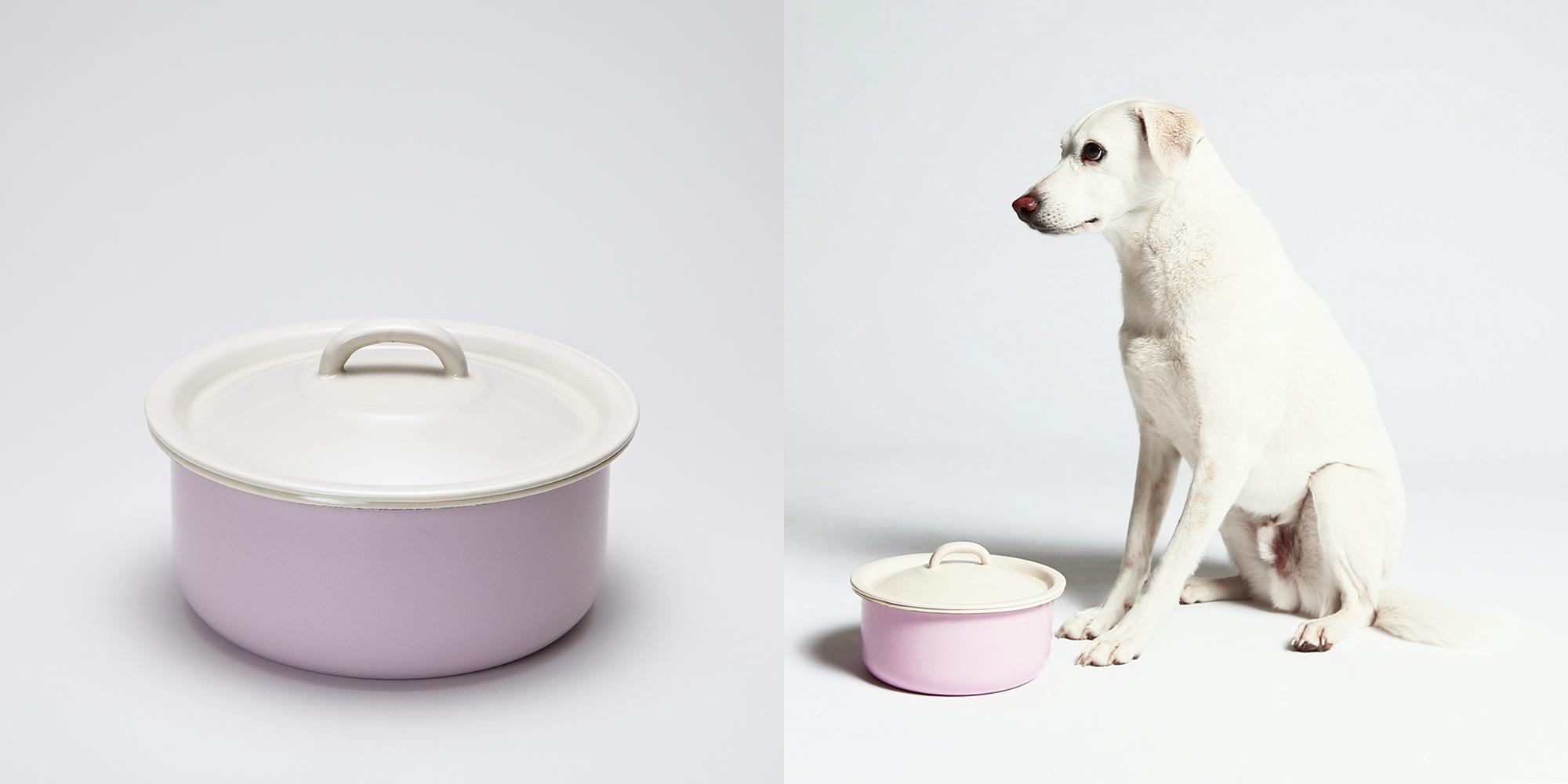 Cloud7 enamel bowl with lid