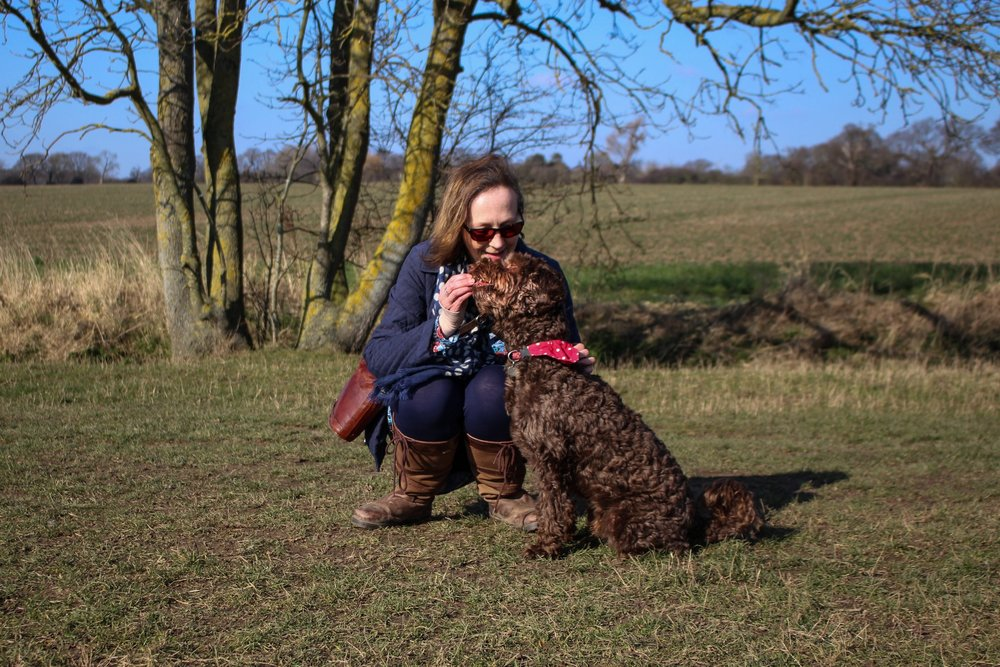 Claire and Rolo Dean on walkies (photo: Wunderdog)