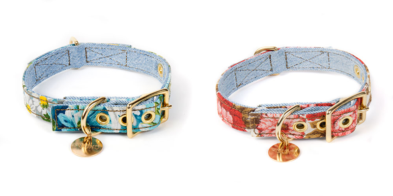Found My Animal vintage floral and denim collar: The Brooklyn-based brand can do no wrong. Having made its name with hand-dyed rope leads, the team organises regular rescue drives to the Miami Dade animal shelter and brings dogs to Brooklyn, where they have a better chance of finding a new home. This collection of vintage collars is too cute for spring. $35