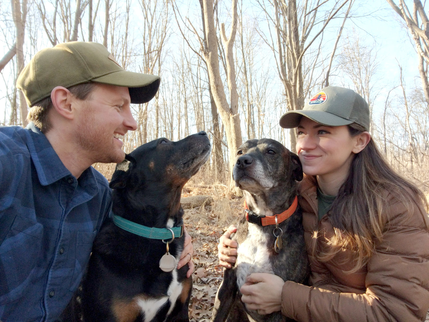 Elijah and Leah Wiegman with their inspiring pups (all images by Spruce)