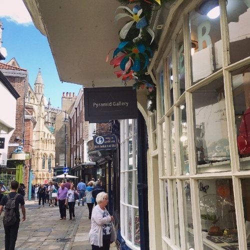 Pyramid Gallery with a Minster view.  My Jewellery will be in the shop window & inside the gallery for these Summer months.