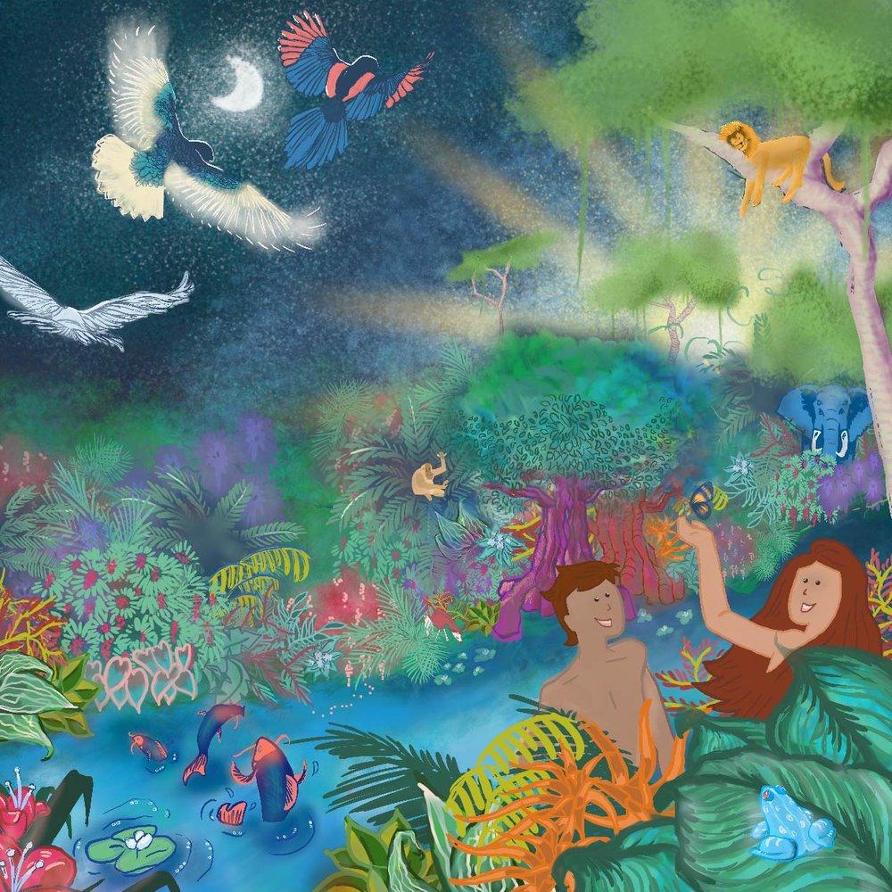 bible story illustration u2014 creativeclog