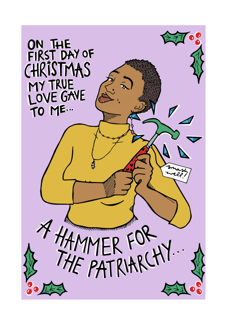 Christmas cards - A Hammer for the Patriarchy (single or pack of 5 ...