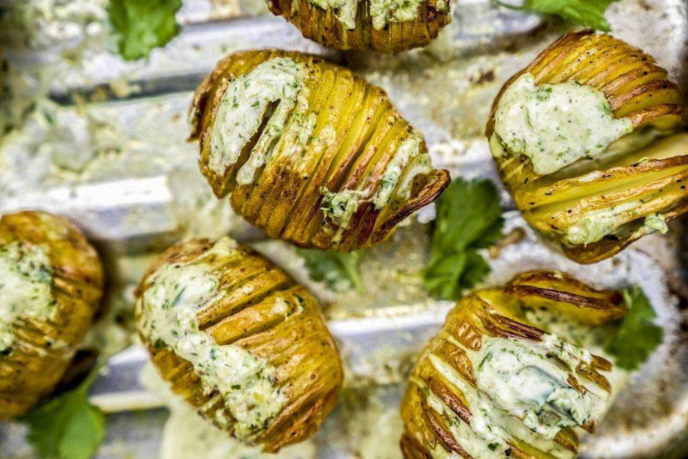 turmeric hasselback potatoes