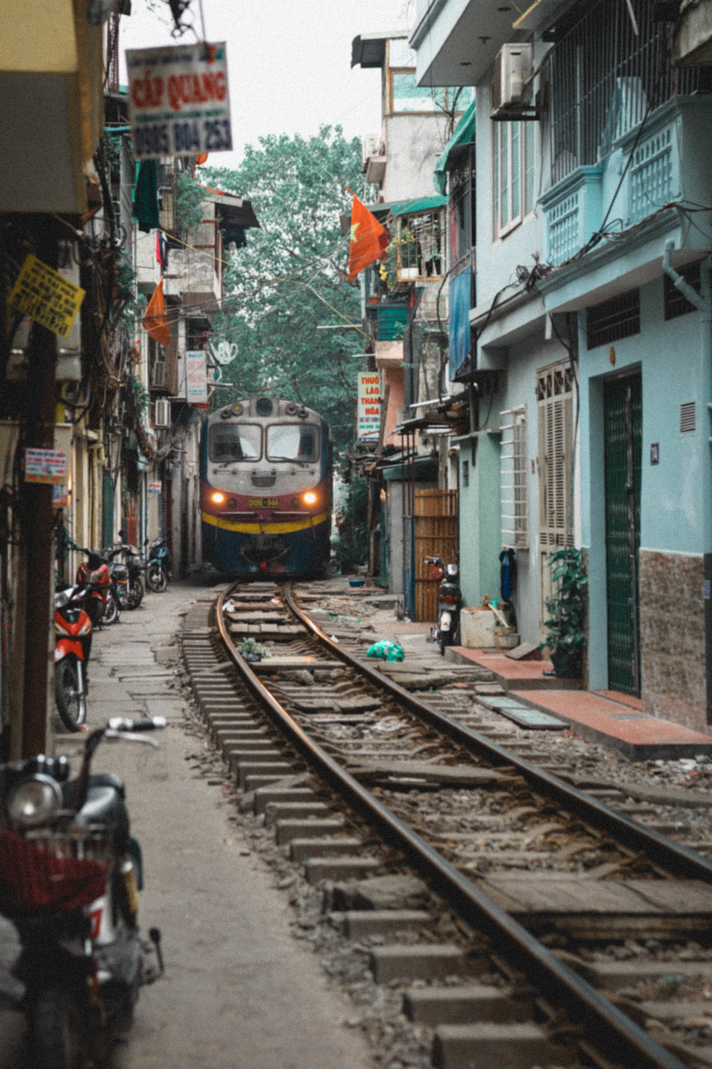Residential train streets of Hanoi