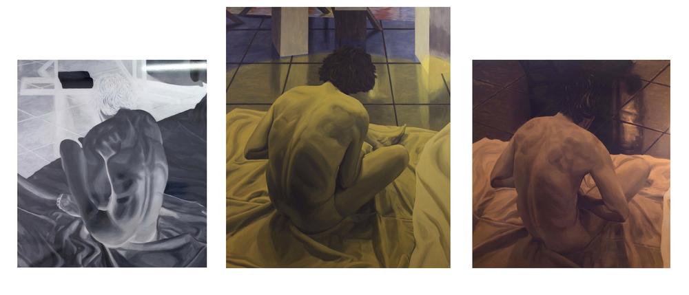 focus, focus, focus triptych