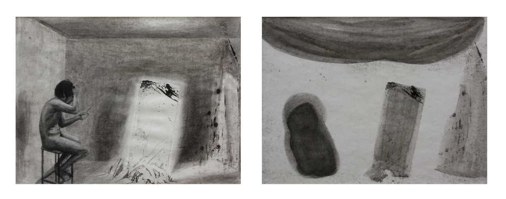 Beefheart in The Unknown (diptych)