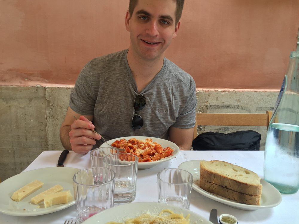 Lunch at Trattoria da Lucia in Trastevere, Rome