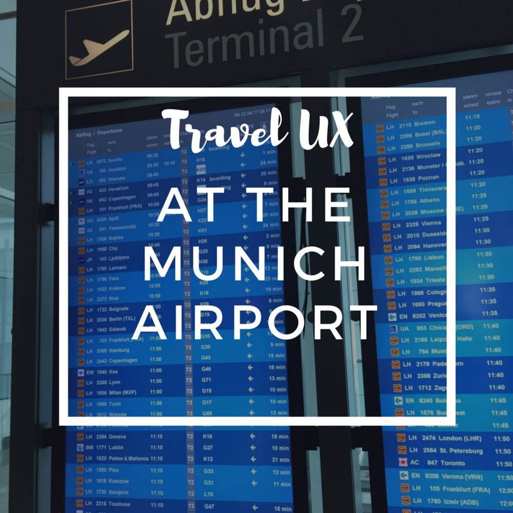 travel ux at the munich airport