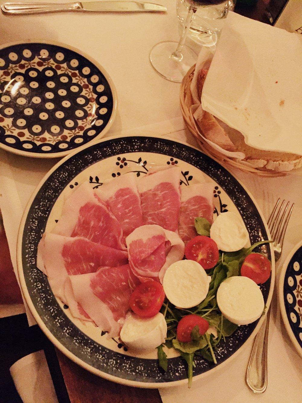 Angiolino Dinner Florence Prosciutto