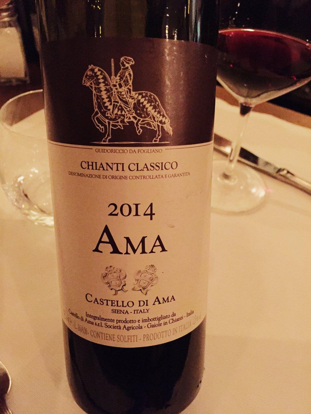 Angiolino Dinner Florence Chianti Classico Wine