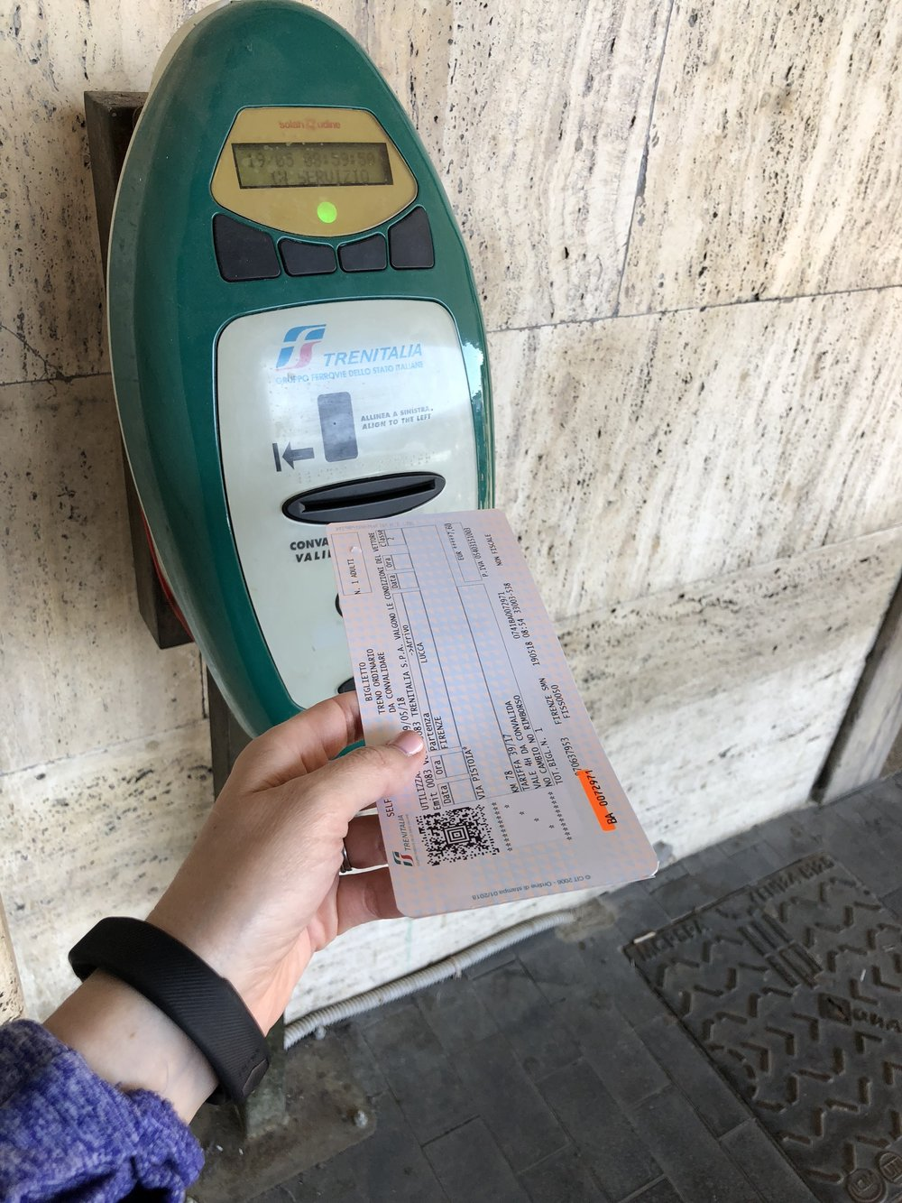 Validating your train ticket in Italy
