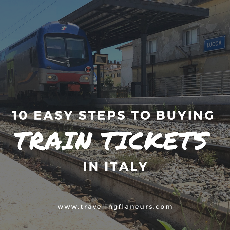 One morning at the last moment, we decided to go on an adventure to Lucca for the day, which is a short 1.5-hour train ride from Florence. Here's how we learned to purchase the train tickets for such a short, and impromptu, trip!