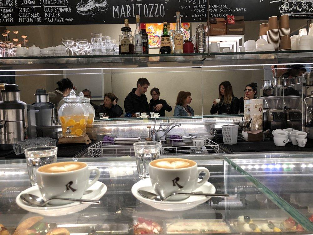 Getting espresso in Rome