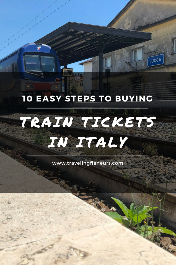 Buying train tickets in Italy