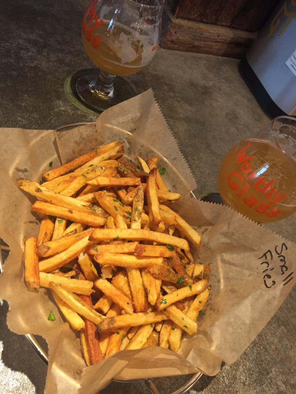 Worthy Kitchen Amazing Beer and Fries
