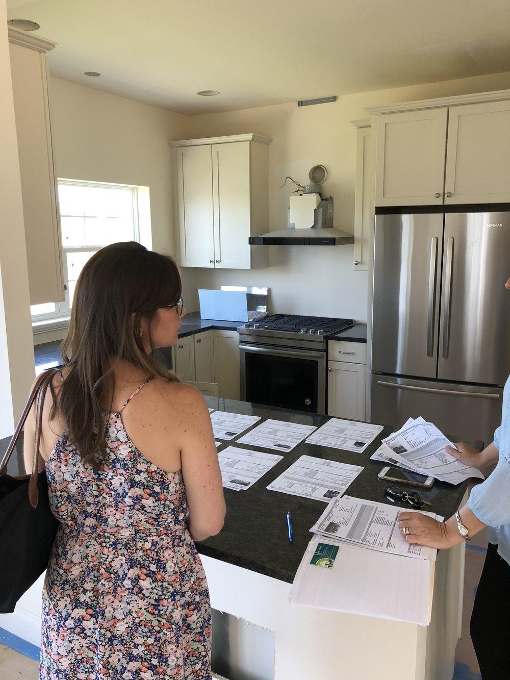 Eliza househunting kitchen
