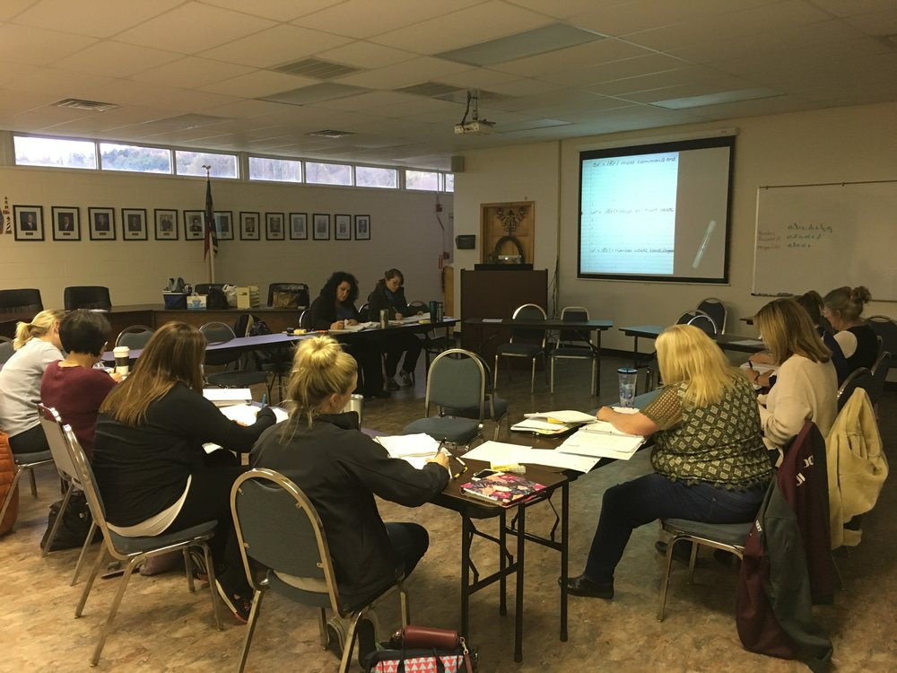 Group training for elementary teachers in Mitchell County, North Carolina