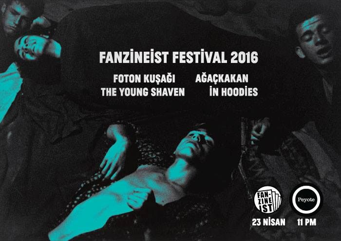 The Young Shaven. 23.4.16 Peyote with Ağaçkakan, In Hoodies, and Foton Kuşağı poster by Xavi.