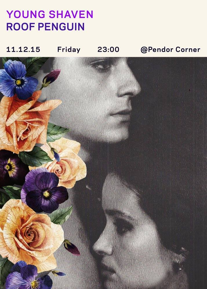The Young Shaven. 11.12.15 Pendor Corner with Roof Penguin poster by Zeynep.