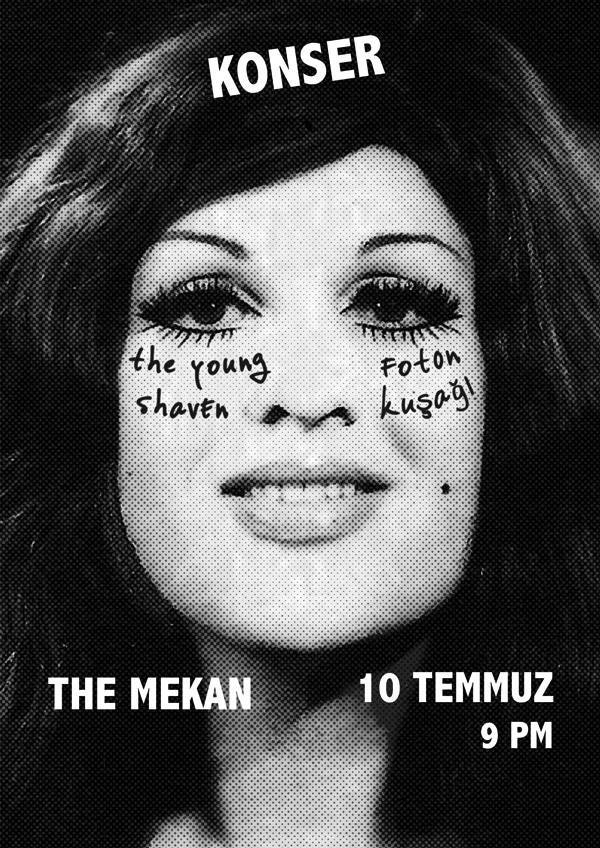 The Young Shaven & Foton Kusagi @ The Mekan Poster