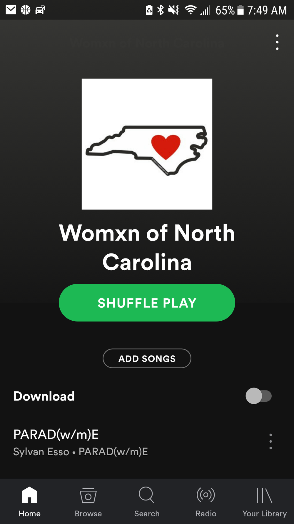 "Click to lINK TO ""WOMXN OF NORTH CAROLINA"" SPOTIFY PLAYLIST"