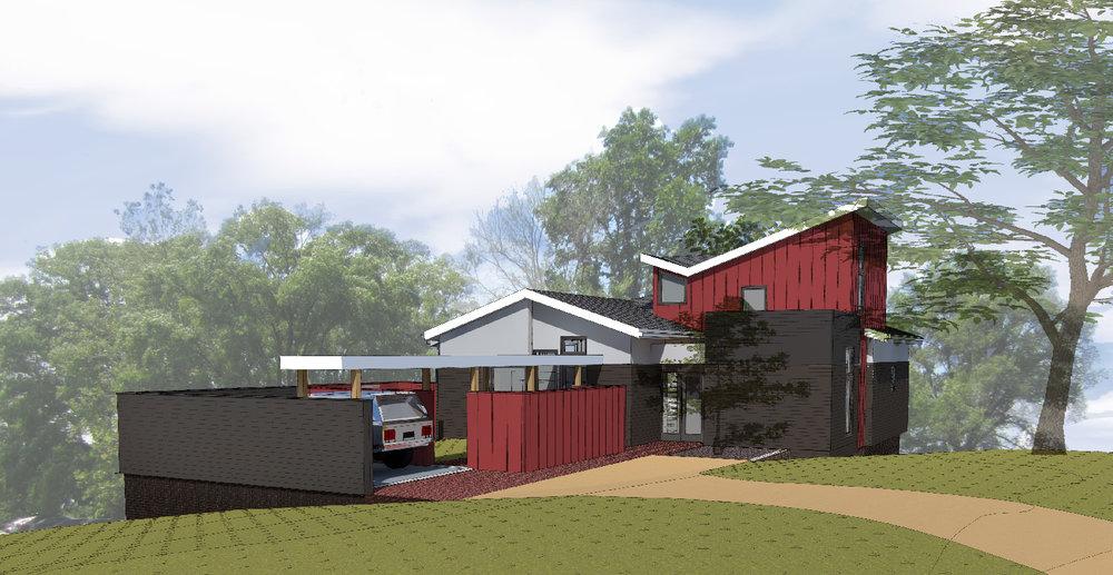 jones residence rendering
