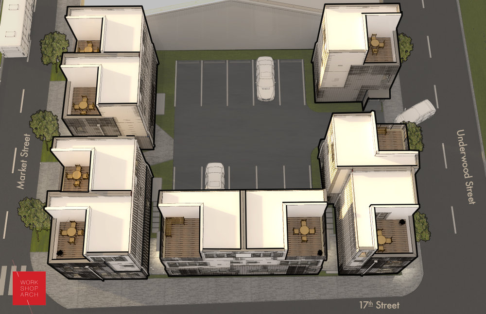 Renderings of the site plan for Layouts on Market