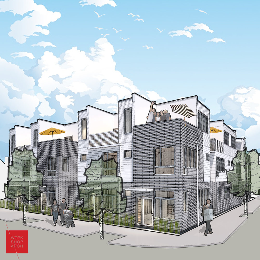 Renderings of the Layouts on Market, which are currently under construction at the corner of Market and 17th.