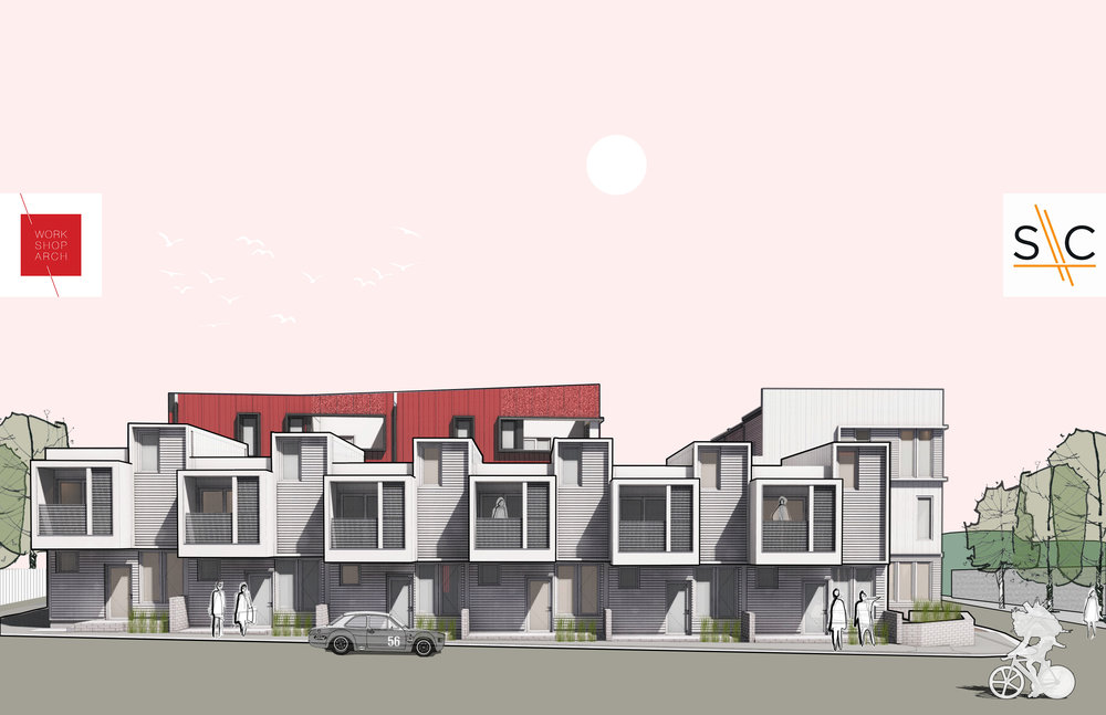 Renderings of the Layouts on Underwood, which will be at the corner of 17th and Underwood.