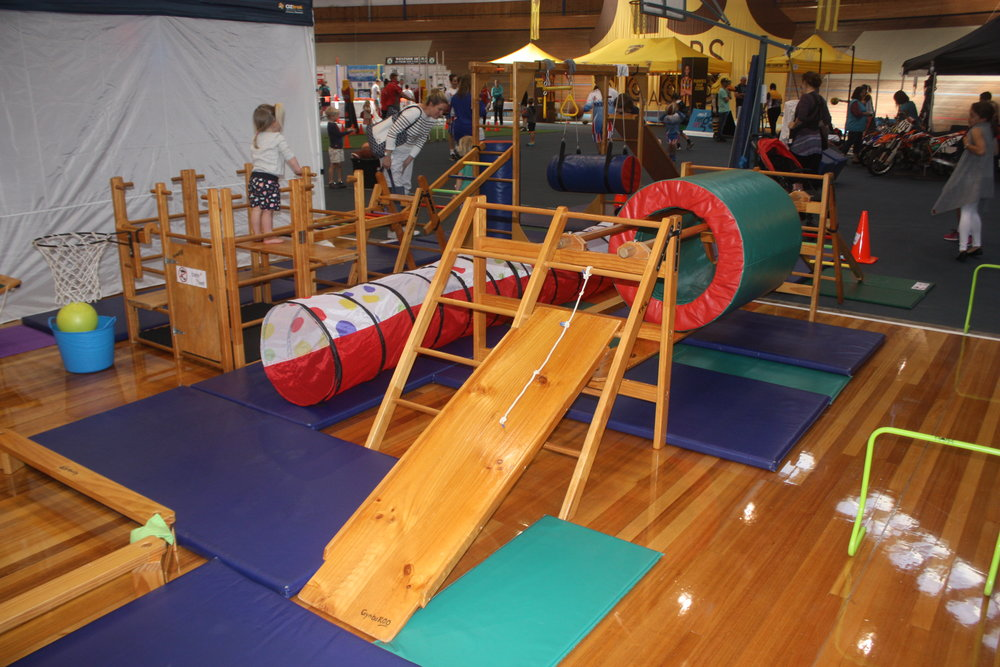 Gymbaroo obstacle course