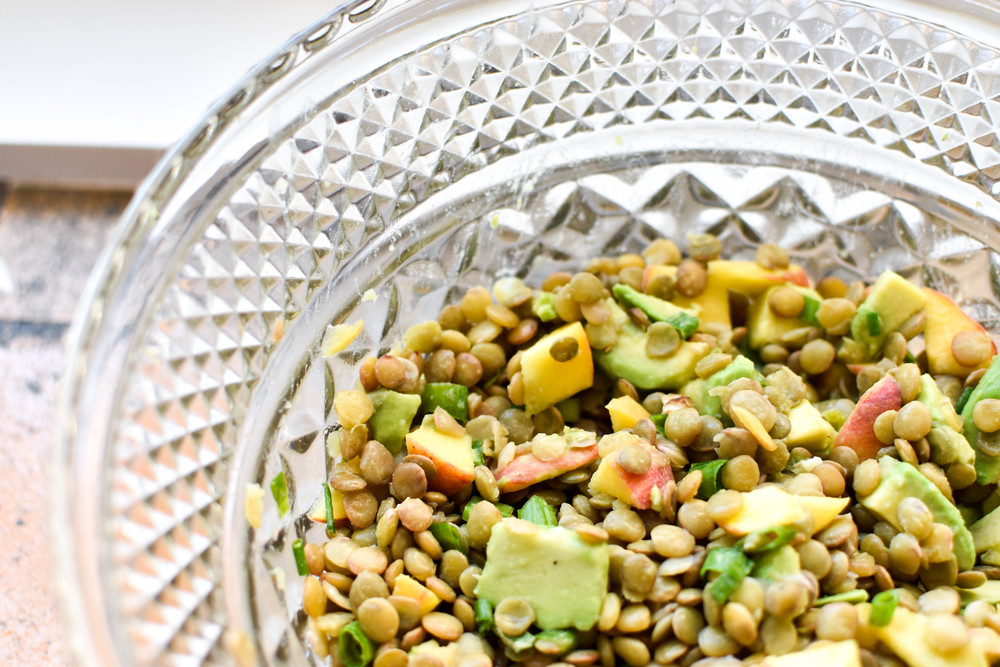 Lentil, Avocado, & Peach Salad