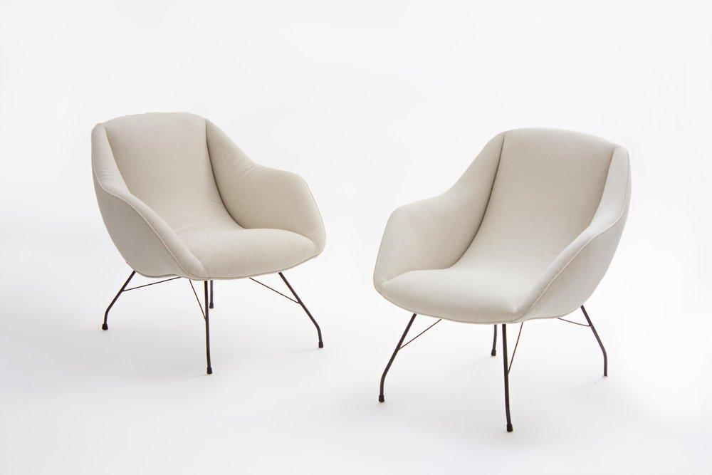 Carlo Hauner U0026 Martin Eisler U0027shellu0027 Lounge Chairs, Brazil Ca 1955 (sold)