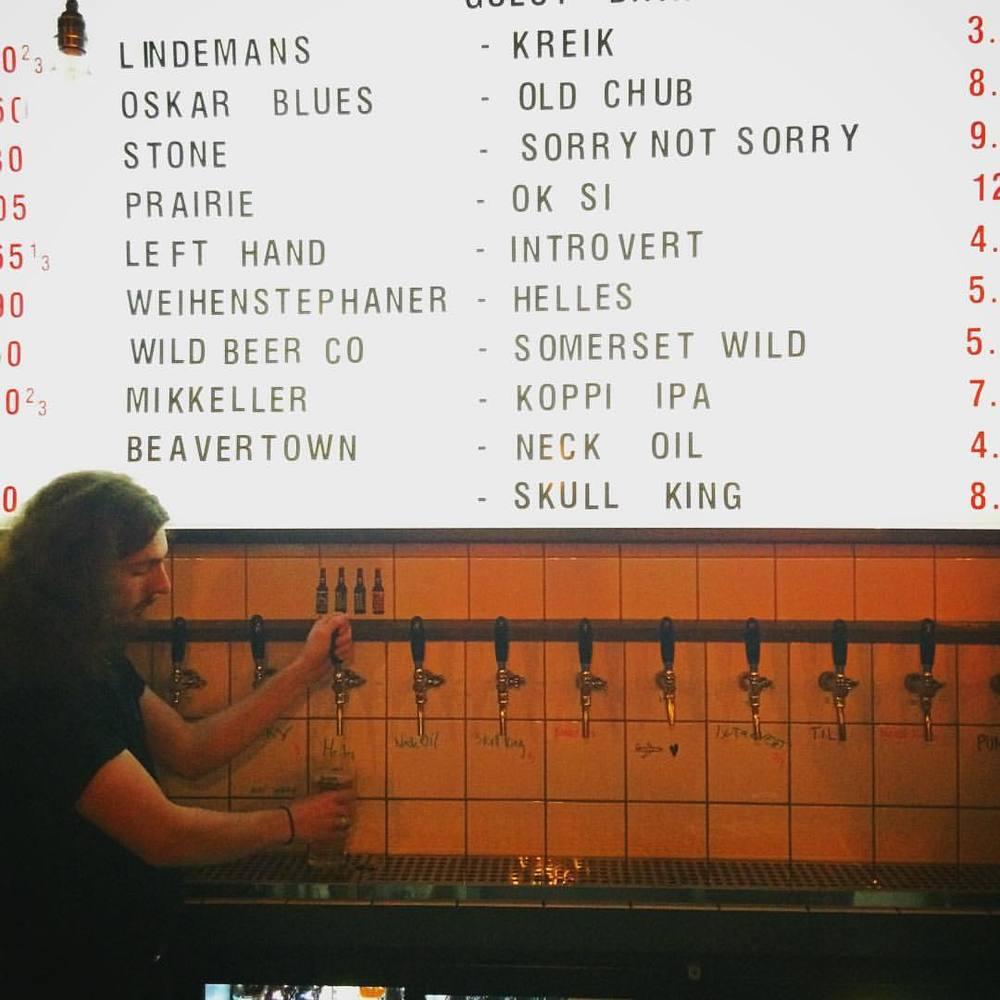Impressive ranges available at BrewDog Soho.