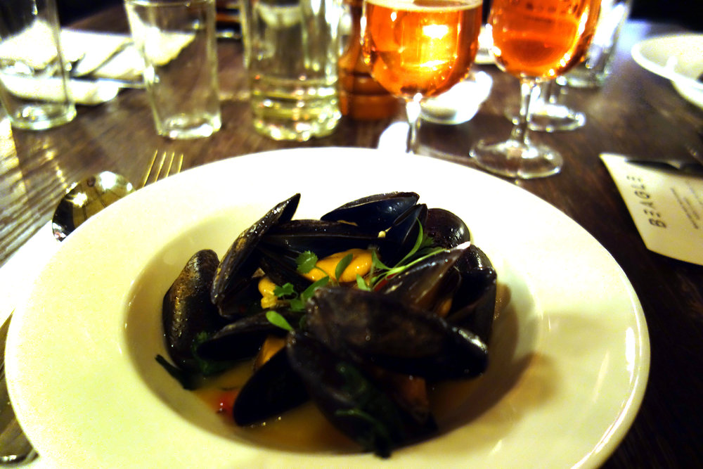Fourpure Brewery Beagle beer dinner mussels